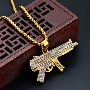 Men's Gun Pendent Necklace!!